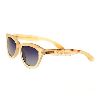 Bertha Carly Buffalo-Horn Polarized Sunglasses - Honey/Black