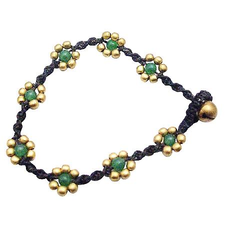 Jade Semi Precious Bead Interwoven Bracelet Cheap Gift Jewelry