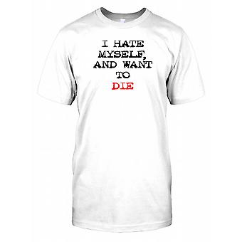 I Hate Myself And Want To Die Kids T Shirt