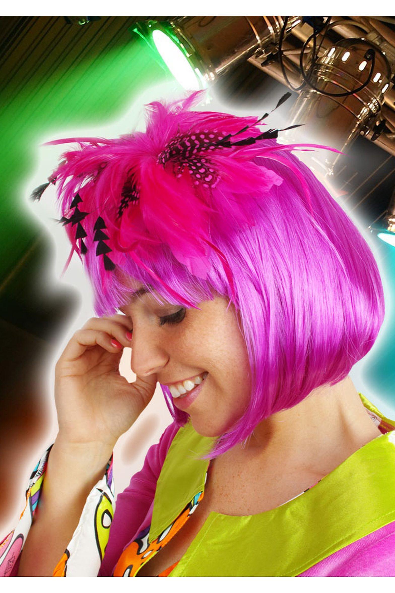 Haar-Accessoires-Haar-Accessoire mit rosa und schwarzen Feder glamour