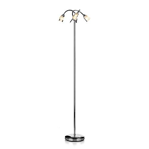 Dar AUS4950 Austin Modern Halogen Floor Lamp With Clear Frosted Glass