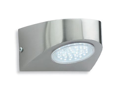 Firstlight - LED Outdoor Wall Light Stainless Steel, blanc IP44 - 4215ST