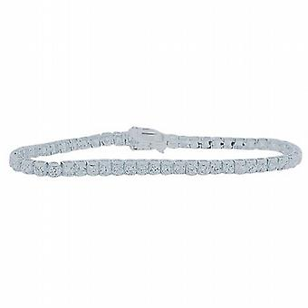 The Olivia Collection Sterling Silver Round Cubic Zirconia Tennis Bracelet