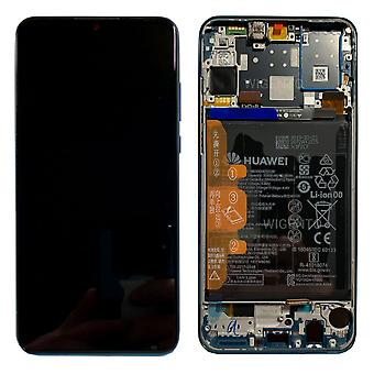 Huawei Display LCD Unit + Frame for P30 Lite Service Pack 02352RQA Blue/Peacock Blue New