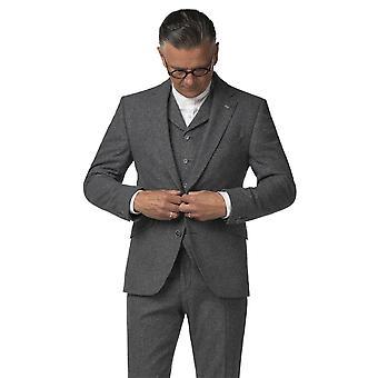 Gibson Londen Gibson Londen metalen grijs Tweed jas