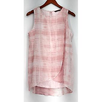 H by Halston Sleeveless Keyhole Back Knit Top Pink NWOT A277080