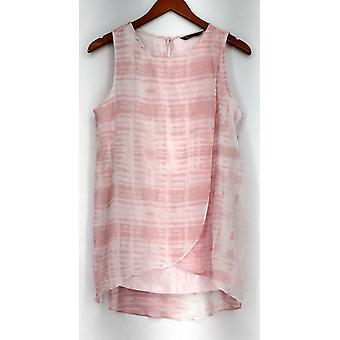 H door Halston mouwloos sleutelgat terug brei top roze NWOT A277080