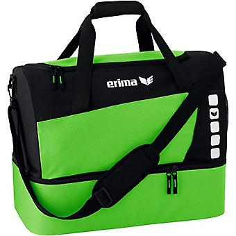 Erima Sports Bag with Compartment on The Fund Sports Bag - New Royal/Black - L