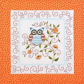 Owl Quilt Blocks Stamped Cross Stitch 15