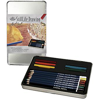 Still Life Drawing Art Set with Tin Rset2504