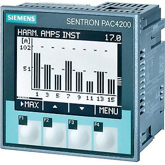 Siemens SENTRON PAC4200 Multifunctional measuring apparatus SENTRON PAC4200 Max. 3 x 690/400 Vac Assembly dimensions 92