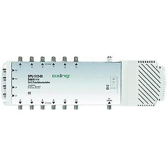 SATT multiswitch Axing SPU 512-05 innganger (multiswitches): 5 (4 SAT/1 terrestrial) nr. deltakere: 12 Quad LNB compat