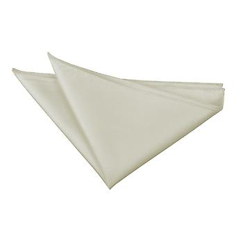 Ivory Solid Check Handkerchief / Pocket Square
