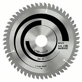 Bosch 2608640509 Multi Material circular saw blade - 190 x 30 x 2,4 mm, 54, Thickness: 2.4 mm
