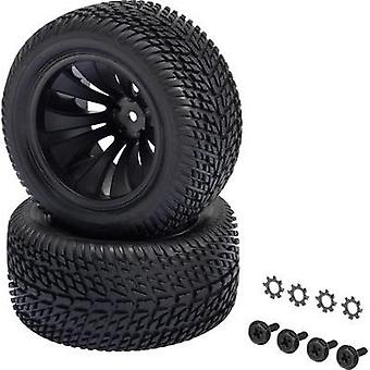 Spare part Reely 12056+12618 Core Truggy wheels (complete)