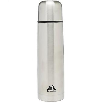 New Eurohike Stainless Steel Flask 1L Hydration Flasks Silver