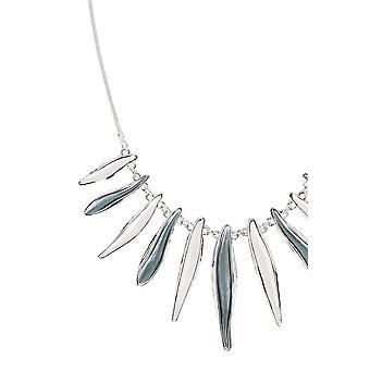 Trim Halskette Silber Blütenblatt