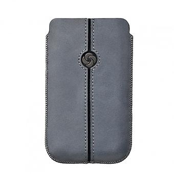 SAMSONITE DEZIR Mobile bag leather Grey to tex S3/S4