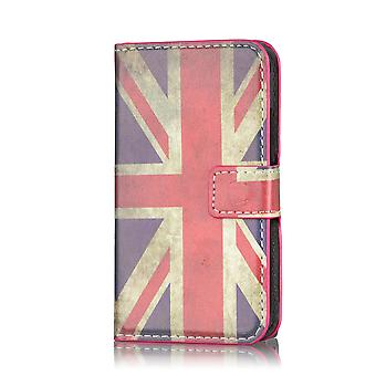 Design Buch Brieftasche Case Cover für Samsung Galaxy S5 Mini SM-G800 - Union Jack
