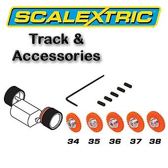 Scalextric Accessories - Pack of 5 Asst Spur Gears