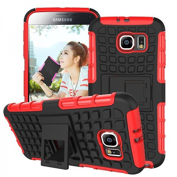 Hybrid Case 2 Piece Red Robot for Samsung Galaxy S6 G920 G920F