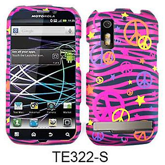 Unlimited Cellular Transparent Design Cover for Motorola MB855/853/Photon4G/Elec