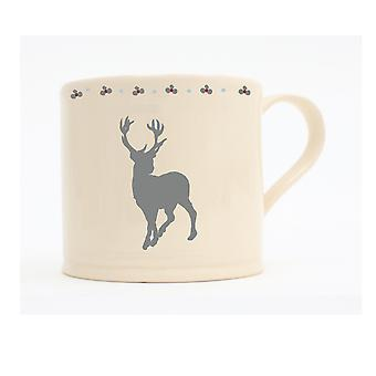 ECP Design Alpine Chalet Single Small Footed Stag Mug, 150ml