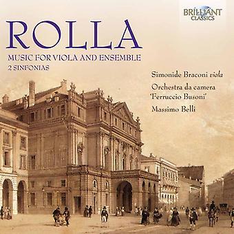 Rolla / Braconi / Orchestra Da Camera Ferruccio - Music for Viola & Ensemble [CD] USA import