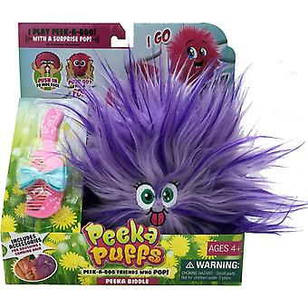 Mookie Peeka Puffs Plush Toy (Purple)