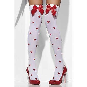 White stockings with hearts