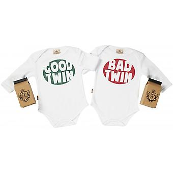 Spoilt Rotten Good & Bad Twin Babygrow