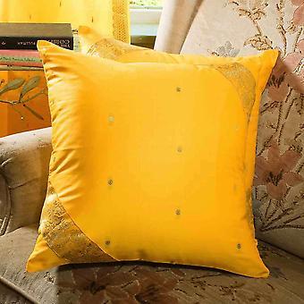 Gelb-dekorative handgefertigte Kissen decken, Wurfkissen Fall Euro Schein-6 Größen