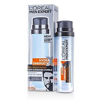 L'Oréal Men Expert Hydra Energy Skin & Designer Stoppelbart Gel Feuchtigkeitscreme (Pump) 78.201.733 - 50 ml / 1,7 Unzen