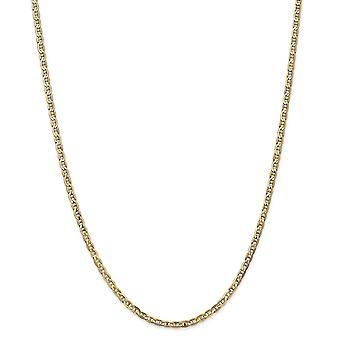 14k gule gull Solid polert hummer Claw nedleggelse 3mm konkave anker kjeden Anklet - hummer klo - lengde: 9-10