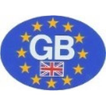W4 Oval European GB Sticker