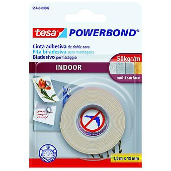 Tesa Powerbond Indoor Double-Sided Self-Adhesive Mounting Tape 1.5M:19Mm