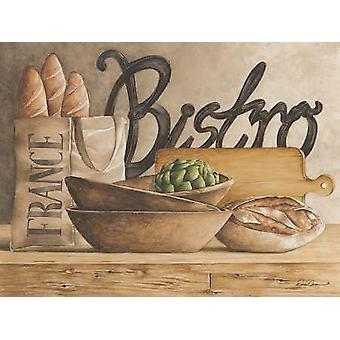 Bistro affisch Skriv av Diane Weaver (24 x 18)
