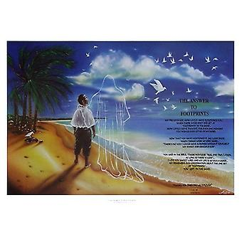 The Answer to Footprints Poster Print by Donald and Art Donald and Art (28 x 20)