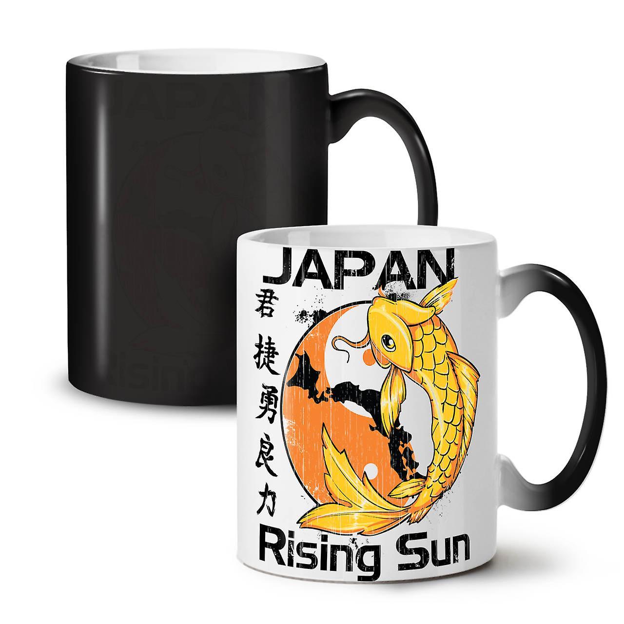 Koi Tasse Rising Couleur 11 Japon Noir De OzWellcoda Changeant Café Céramique Thé Sun Nouveau XkTZiuOP