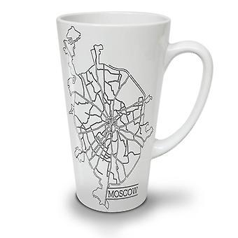 Moscow City Map Fashion NEW White Tea Coffee Ceramic Latte Mug 17 oz | Wellcoda