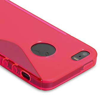 Caseflex Iphone SE S-Line Gel Case - Hot Pink