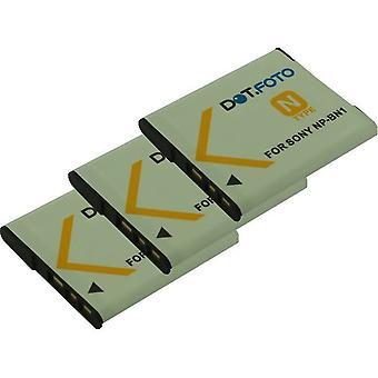 3 x Dot.Foto Sony NP-BN, NP-BN1 - bateria 3.7 v / 630mAh