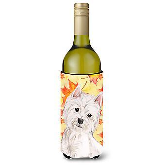 Westie Herbst Weinflasche Beverge Isolator Hugger