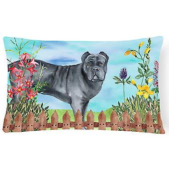 Cane Corso Spring Canvas Fabric Decorative Pillow