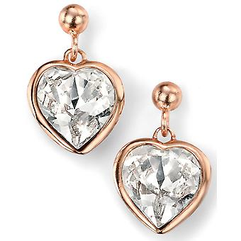 925 Silver Rose Gold Plated Swarovski Crystal Heart