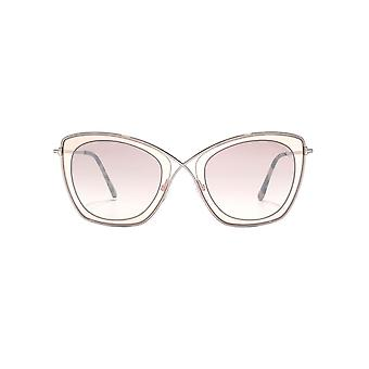 Tom Ford India 02 Sunglasses In Light Brown Mirror