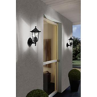 Eglo Lanterna Outdoor Wall Sconce Light Black
