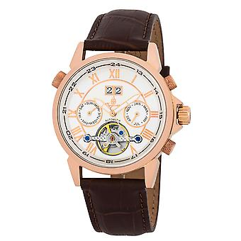 Burgmeister BM118-315 California, Gents automatic watch, Analogue display - Water resistant, Stylish leather strap, Classic men's watch