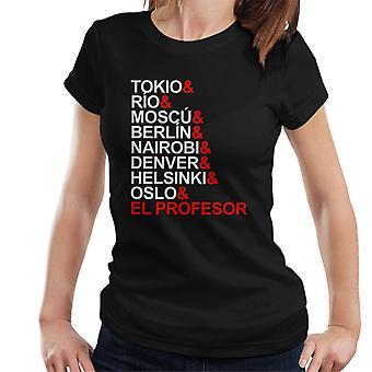 La Casa De Papel karakter listen kvinner t-skjorte