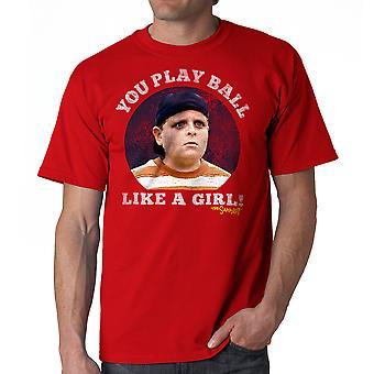 Sand bolden ligesom en pige mænds rød T-shirt